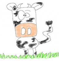 The Writing Cow