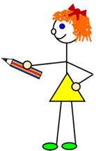 Girl with a pencil